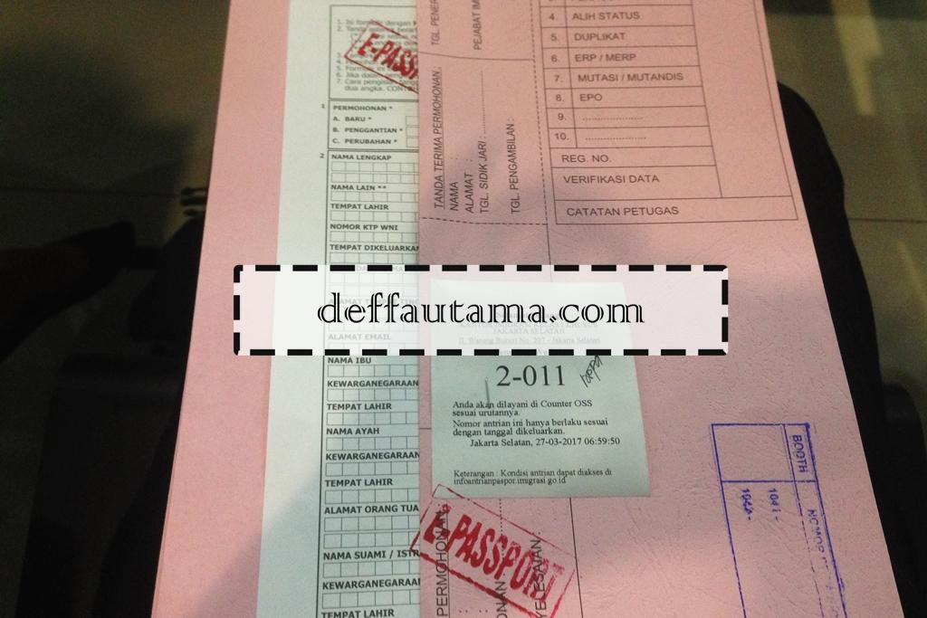 Membuat E-Paspor di Jakarta - Berkas Pengajuan Paspor