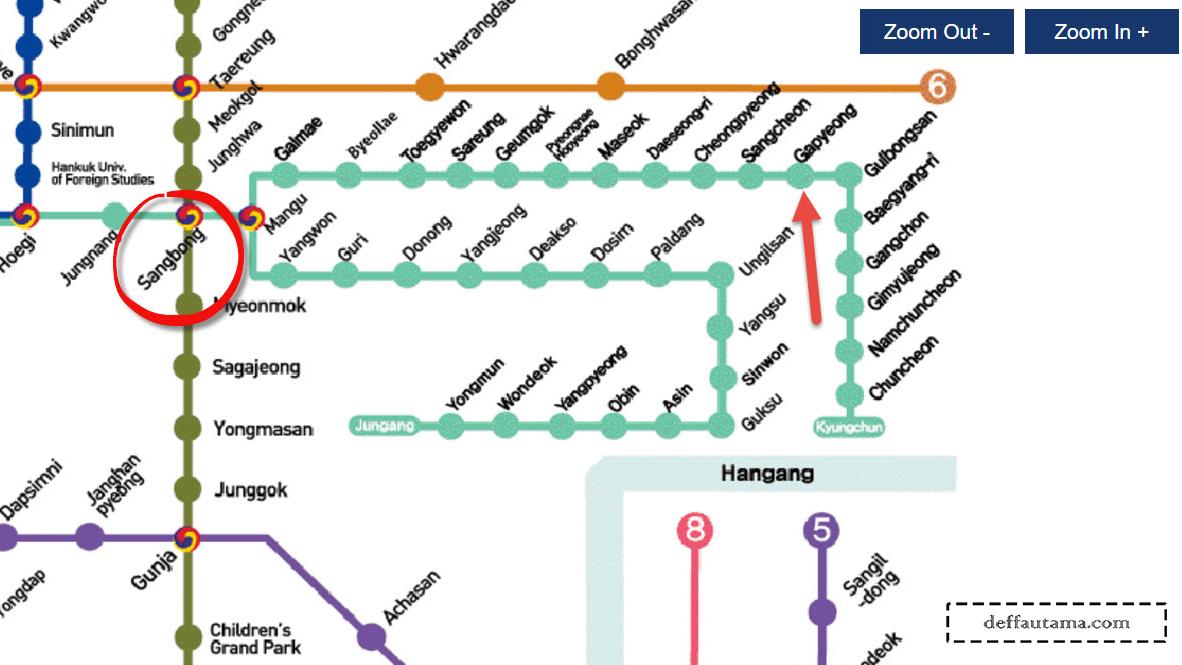 Cara Mudah dan Murah ke Nami Island - Sangbong Station